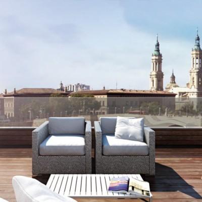 Balcón San Lázaro II (Zaragoza) </br> Bloque de viviendas en la Ribera.