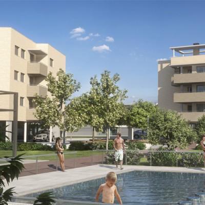 Jardines de Vistabella (Zaragoza)</br> 96 viviendas en Miralbueno
